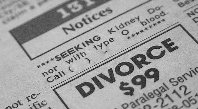 Cost of divorce
