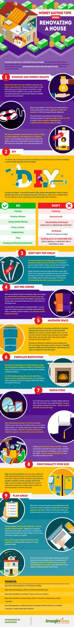 Renovating a House Infographic